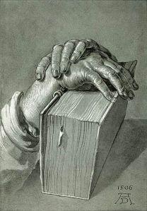 Hand Study with Bible, Albrecht Dürer, 1506