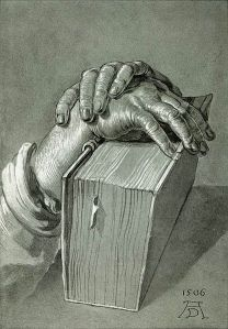 Hand Study with Bible, Albrecht Dürer, 1506
