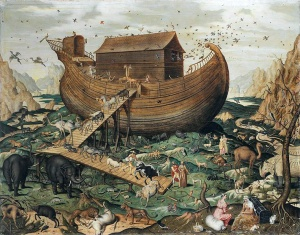 Noah's Ark on the Mount Ararat, Simon de Myle, 1570