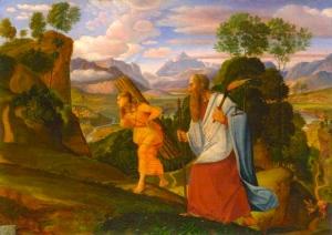 Abraham and Isaac by Ferdinand von Olivier, 1817